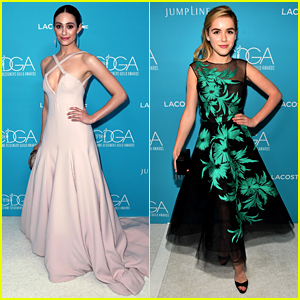 Emmy Rossum & Kiernan Shipka Bring Fashion A-Game to Costume Designers Guild Awards