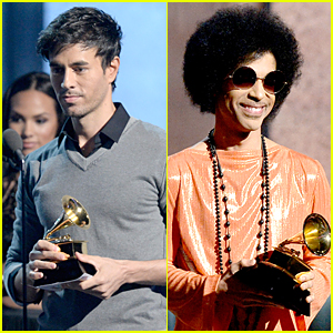 Enrique Iglesias & Prince Present Grammys To Two Big Winners