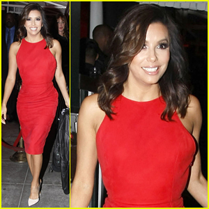 Eva Longoria Dazzles in Red to Celebrate Valentine's Day Early at Stupid Cupid Soiree!