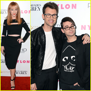 Fashion Police's Kathy Griffin & Brad Goreski Kick Off Fashion Week with '50 Shades' Release Party!