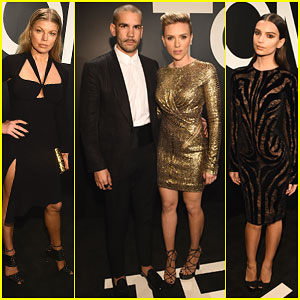 Scarlett Johansson & Fergie Make It a Date Night at Pre-Oscars Event!