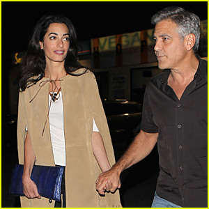 George Clooney & Wife Amal Celebrate First Valentine's Day As Married Couple