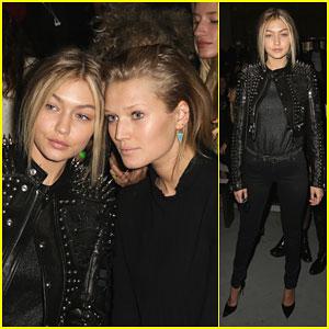 Gigi Hadid & Toni Garrn Take a Break From Walking the Runway to Sit Front Row