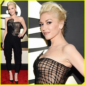 Gwen Stefani Hits Grammys 2015 Red Carpet After Debuting New Song 'Start a War'!