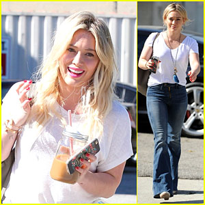 Hilary Duff Rocks a Pair of Toe Shoes in the Recording Studio