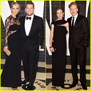 James Corden & Conan O'Brien Bring Their Spouses to Vanity Fair's Oscar After Party 2015!