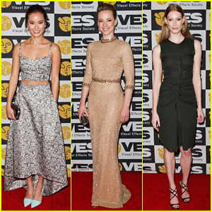 Jamie Chung & Karine Vanasse Get Glam to Present at the Visual Effects Society Awards 2015!
