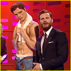 Jamie Dornan Eats His Own Abs on Christian Grey Cake!