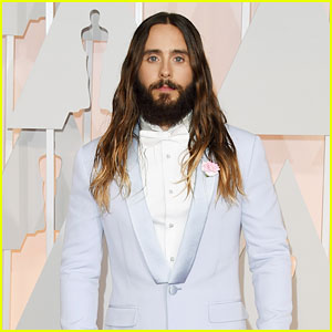Jared Leto Lets His Hair Down at Oscars 2015