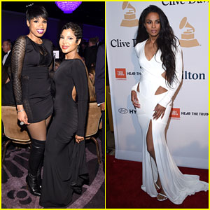 Jennifer Hudson Shows Some Skin For Pre-Grammy Party
