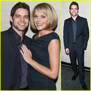 Jeremy Jordan Gets Support from Wife Ashley Spencer & Broadway Stars at 'Last Five Years' NYC Screening!