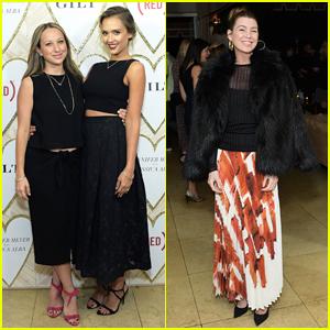 Jessica Alba & Jennifer Meyer Celebrate RED Necklace Launch with Ellen Pompeo & More!