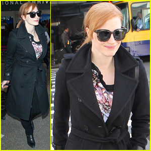 Jessica Chastain Returns to L.A. After Wrapping 'The Martian'