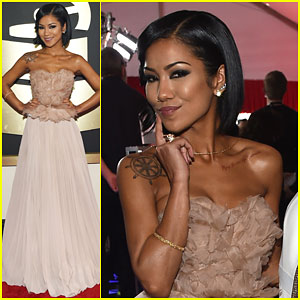 Jhene Aiko is a Chic Beauty at Grammys 2015