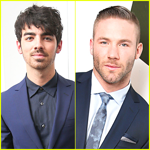 Joe Jonas & Julian Edelman Wear Fifty Shades of Blue at Z Zegna Celebration