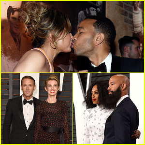 John Legend, Solange, & Tim McGraw Couple Up at Vanity Fair's Oscar Party 2015!
