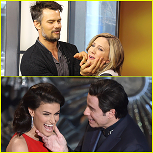 Josh Duhamel Reenacts John Travolta & Idina Menzel's Face Touching Moment at Oscars 2015