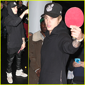 Justin Bieber Plays Ping Pong Like a Pro - Watch Now!