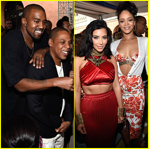 Kanye West & Kim Kardashian Have the Time of Their Lives with Jay Z & Rihanna