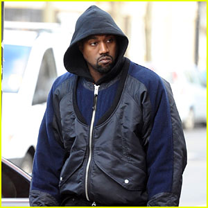 Kanye West Meets With a Fashion Designer in London