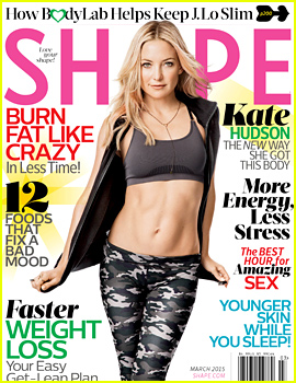 Kate Hudson's Abs Are Unreal for 'Shape' March 2015!