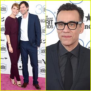 Katie Aselton & Mark Duplass Are Pink Carpet Ready Couple at Spirit Awards 2015!