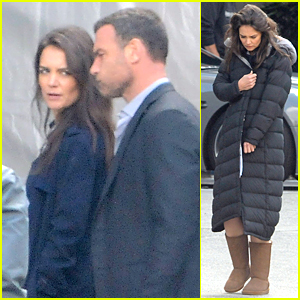 Katie Holmes & Liev Schreiber Continue Shooting 'Ray Donovan' Together