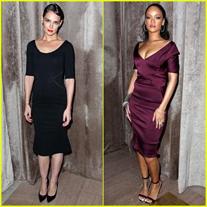 Katie Holmes & Rihanna Dress Up for Zac Posen's NYFW Show