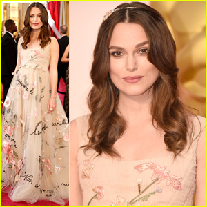 Keira Knightley Dresses Baby Bump in Valentino for Oscars 2015