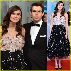 Keira Knightley Dresses Baby Bump in Flowers for BAFTAs 2015