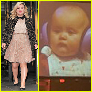 Kelly Clarkson's Daughter River Has Ears Covered During Soundcheck