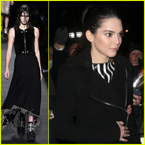 Kendall Jenner Goes Goth for Alexander Wang Fashion Show