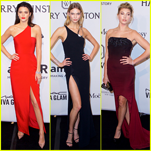 Kendall Jenner & Karlie Kloss Show Lots of Leg at amfAR Gala
