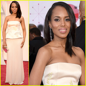 Kerry Washington Brings 'Scandal' Script Notes to Oscars 2015