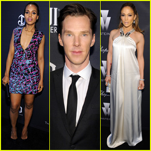Kerry Washington & Benedict Cumberbatch Party Before the Oscars with Jennifer Lopez