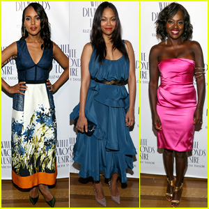 Kerry Washington & Zoe Saldana Hit Pre-Oscars Sistahs Soiree