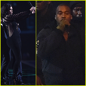 Kim Kardashian Asks Everyone to Stand Up For Kanye West at BRIT Awards 2015