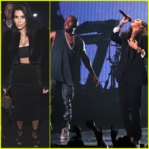 Kim Kardashian Supports Kanye West While Performing with Rihanna at DirecTV Super Bowl 2015 Party (Video)