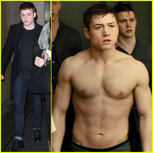 Kingsman's Taron Egerton Is Shirtless & Ripped in New TV Spot