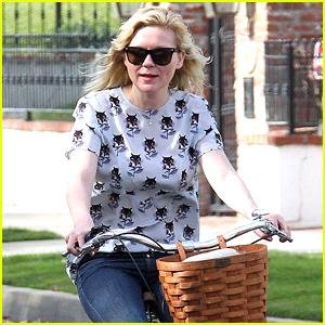 Kirsten Dunst Goes for Bike Ride Amid Engagement Rumors