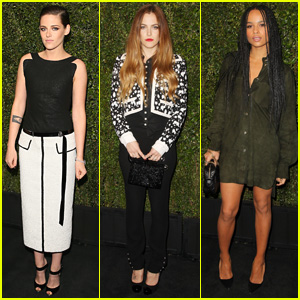 Kristen Stewart & Riley Keough Party it Up Pre-Oscars 2015!