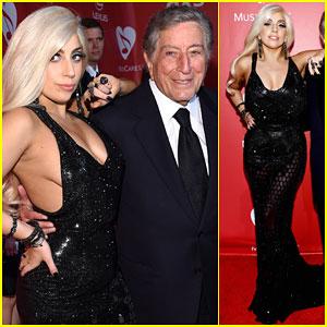 Lady Gaga Shows Off Major Sideboob at MusiCares 2015