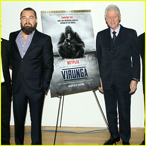 Leonardo DiCaprio Gets a Surprise From Bill Clinton at 'Virunga' Screening