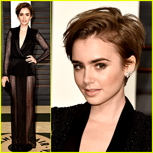 Lily Collins Debuts New Pixie Haircut at Oscars After Party!