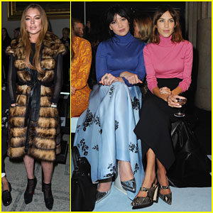 Lindsay Lohan Stays Stylish for London Fashion Week