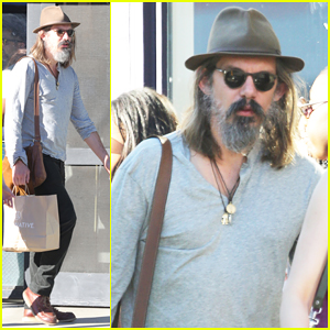 Lukas Haas Is Unrecognizable with Full Gray Beard in Venice - See The Pics!