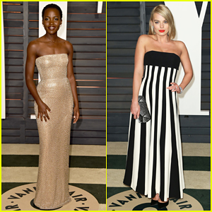 Lupita Nyong'o & Margot Robbie Are Fashionable Ladies at Vanity Fair Oscar Party 2015