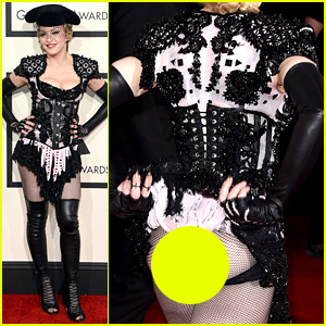 Madonna Flashes Her Butt on Grammys 2015 Red Carpet