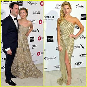 Maggie Grace & Katheryn Winnick Are Golden Blondes at Oscars 2015 Party