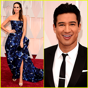 Mario Lopez & Louise Roe Dress Up for Oscars 2015 Red Carpet